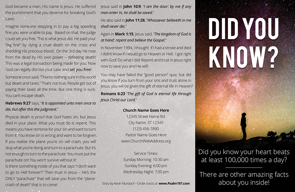 Did You Know? Gospel Tract by Psalm 197